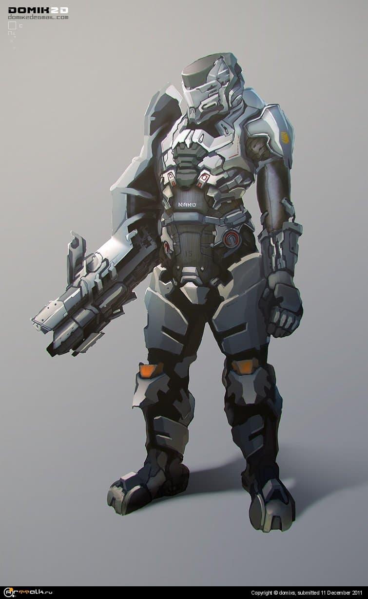 солдат будущего C супер пушкой
