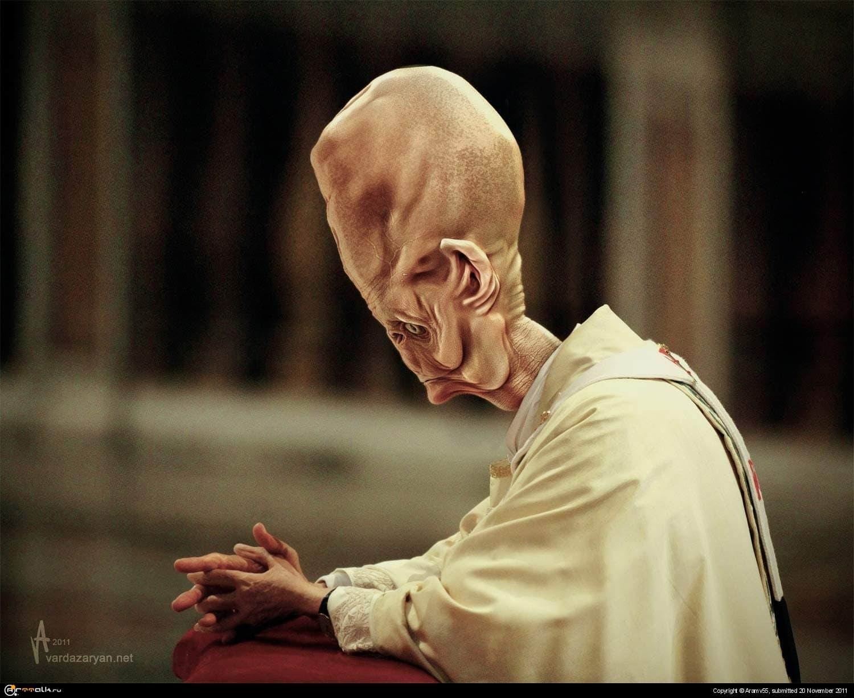 Alien Pope  Prays
