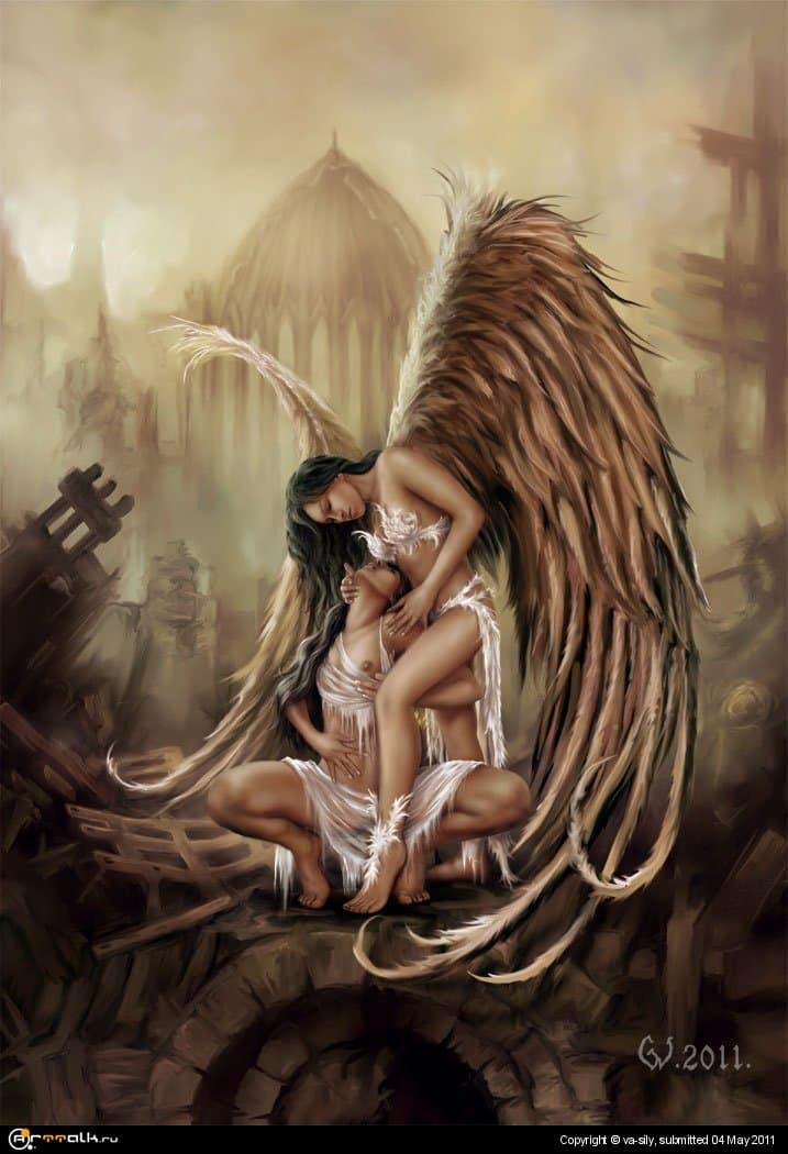 В объятиях ангела