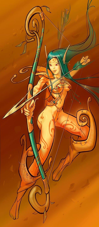 воинственная эльфийка