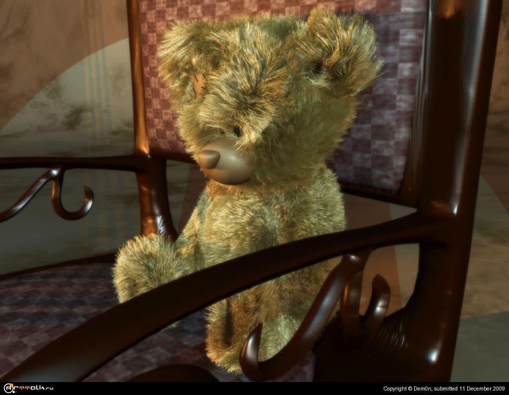 Мишка в кресле