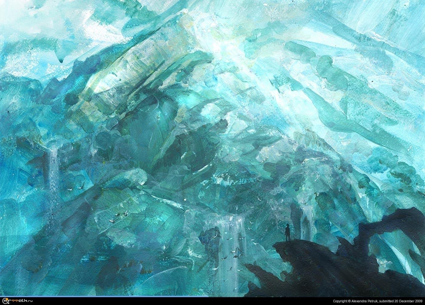 У ледника