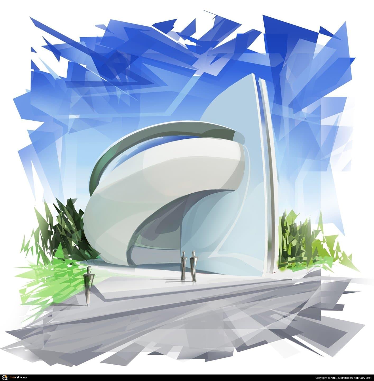 Архитектурный концепт для курсовой работы.
