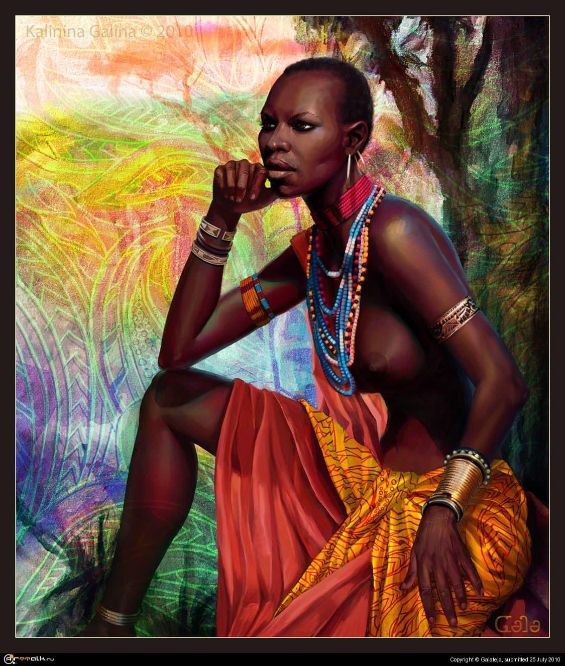Женщина масаи