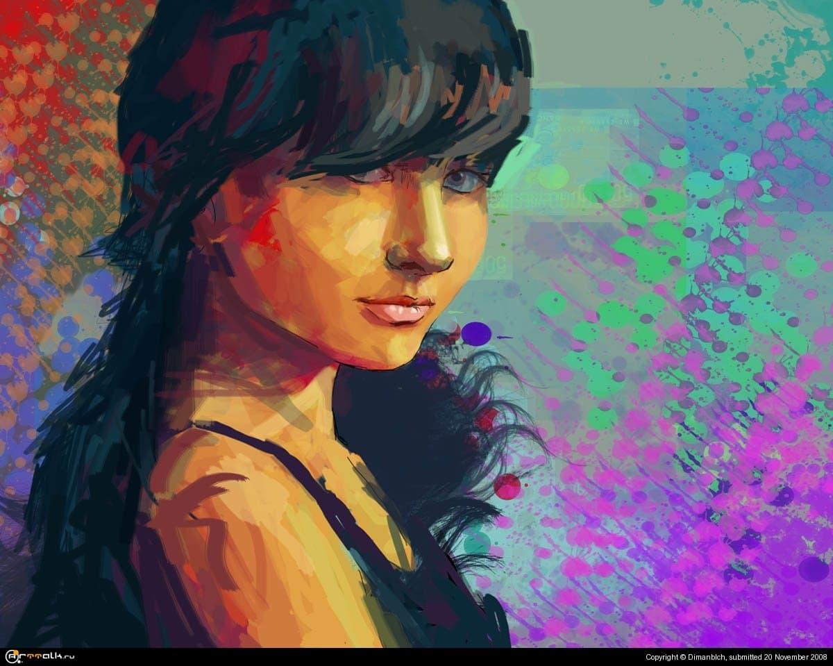 портрет девушки Инны