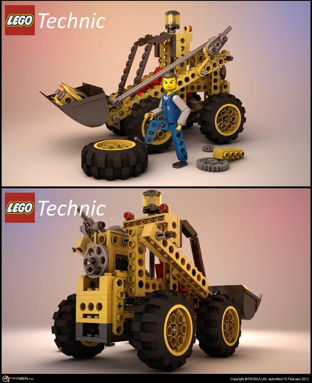Игрушка Lego, Трактор