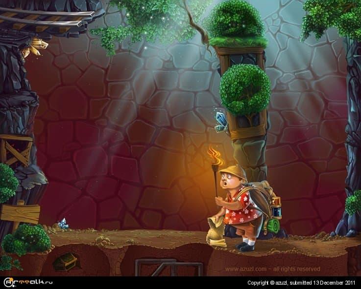 Игровое поле и персонаж для игры