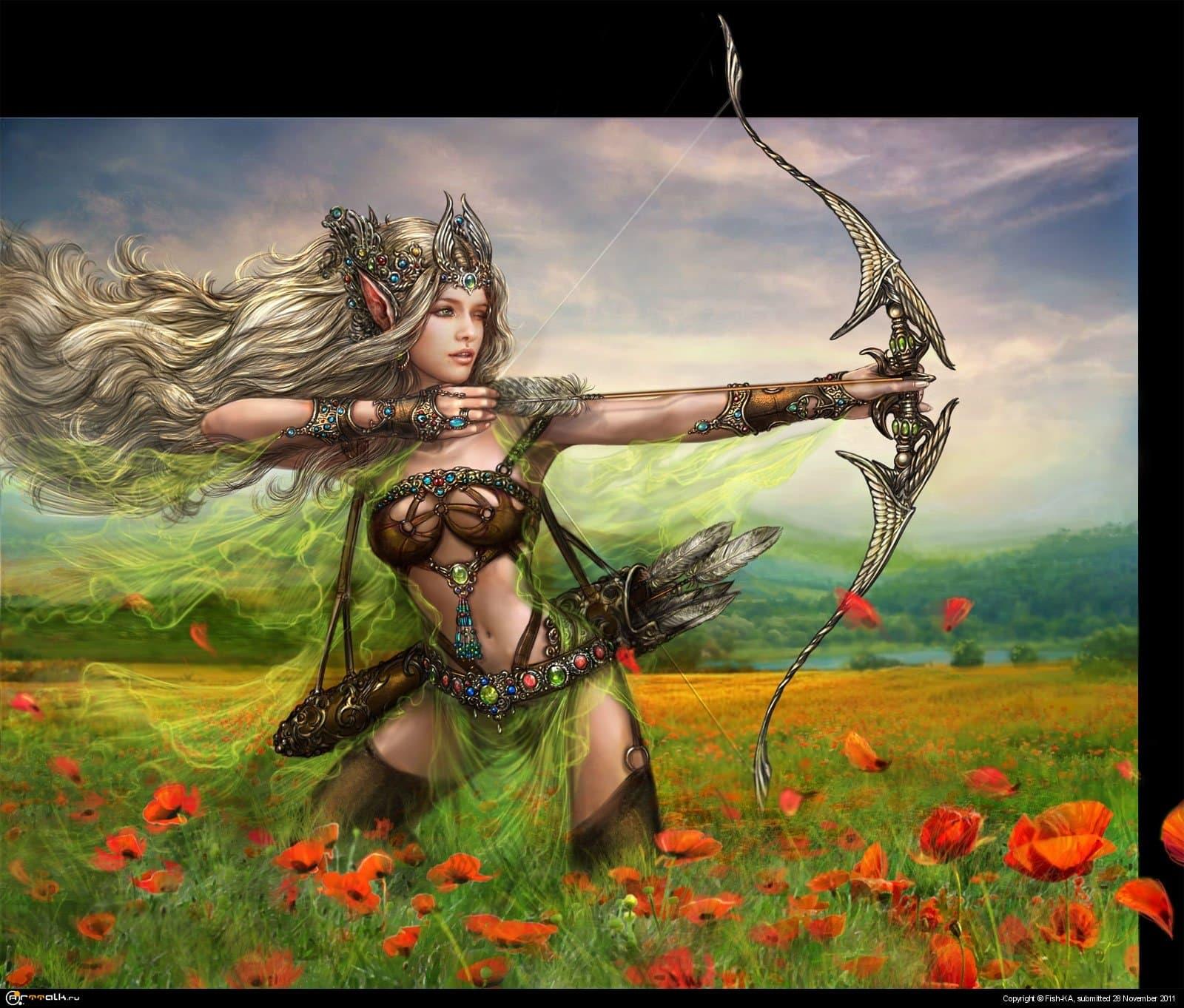 эльфийская лучница