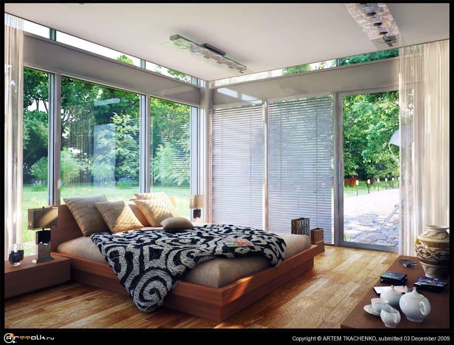 Спальня загородного дома