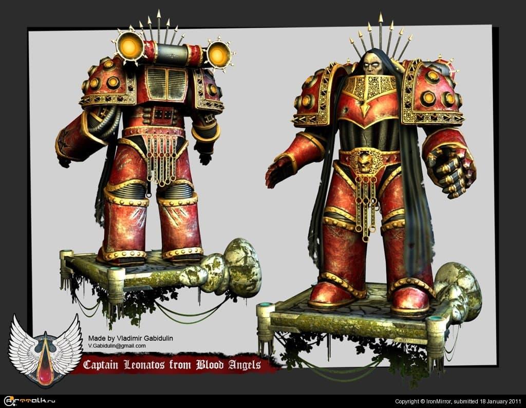 Warhammer 40k Captain Leonatos From Blood Angels
