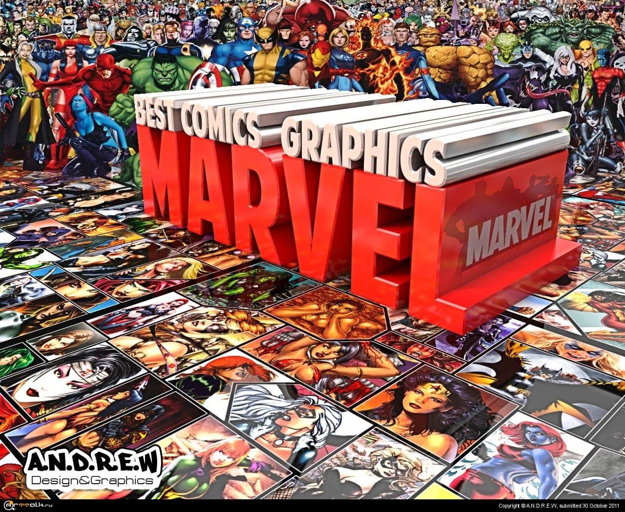 Marvel™[3d Typography]