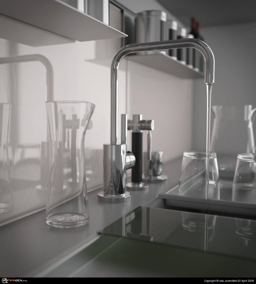Кран на кухне
