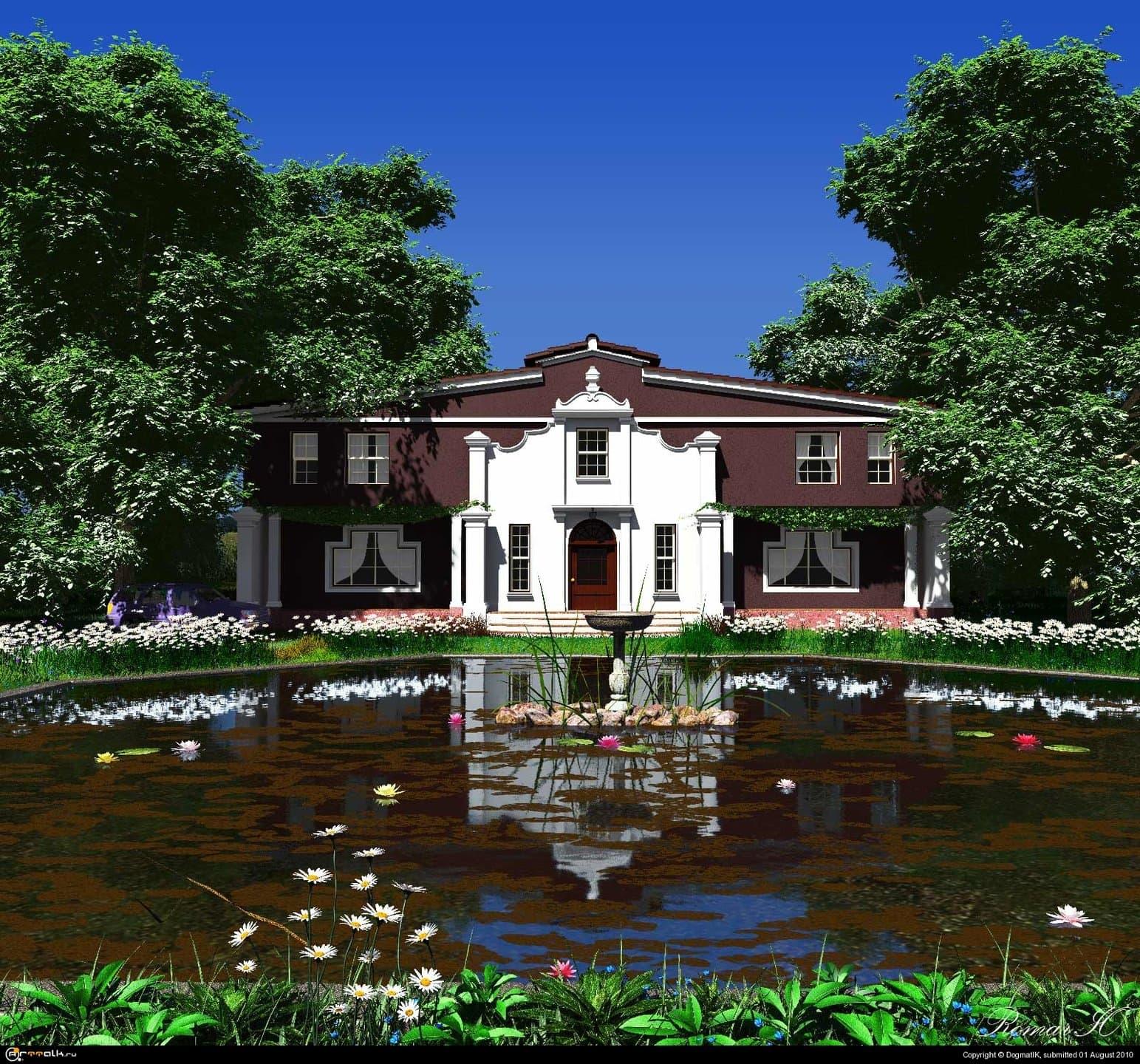 Пруд в саду усадьбы Ормаринс. Капская провинция, ЮАР.