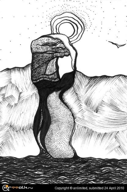 """зарисовки из Крымского блокнота: \""""мыс Фиолент в положении\"""""""